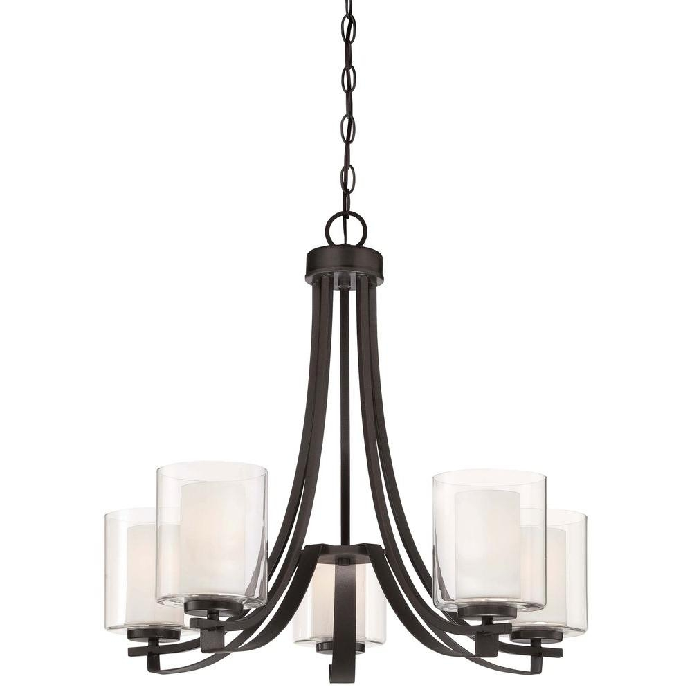 Minka Lavery Parsons Studio 5 Light Smoked Iron Chandelier 4105 Intended For Iron Chandelier (Image 9 of 15)
