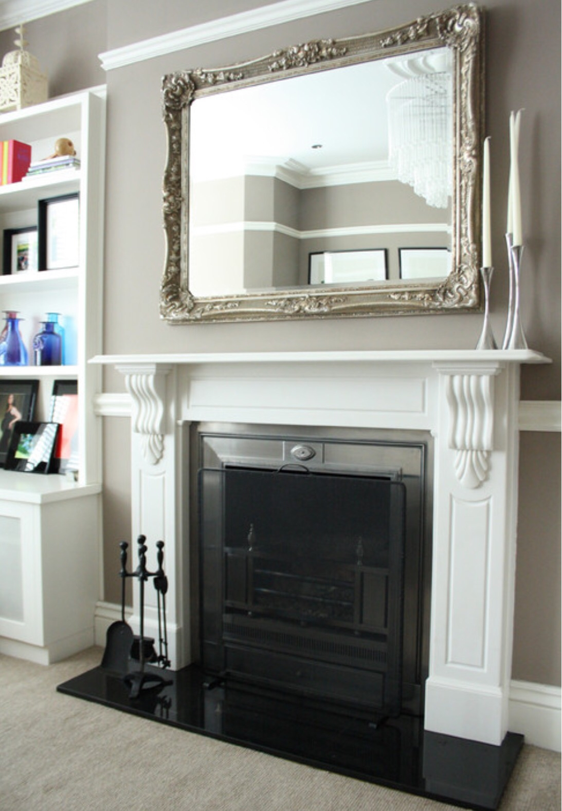 Mirror Above Fireplace Home Sweet Home Pinterest Mantle And In Large Mantel Mirror (Image 12 of 15)