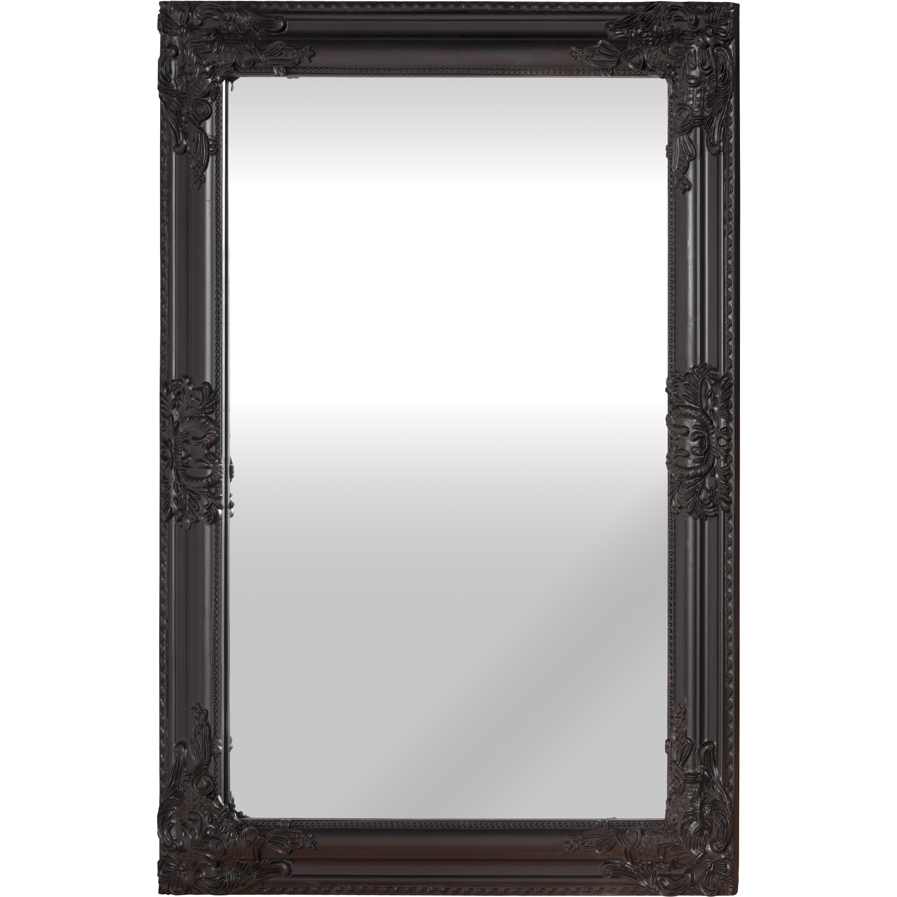 Mirror Black Intended For Antique Black Mirror (Image 11 of 15)