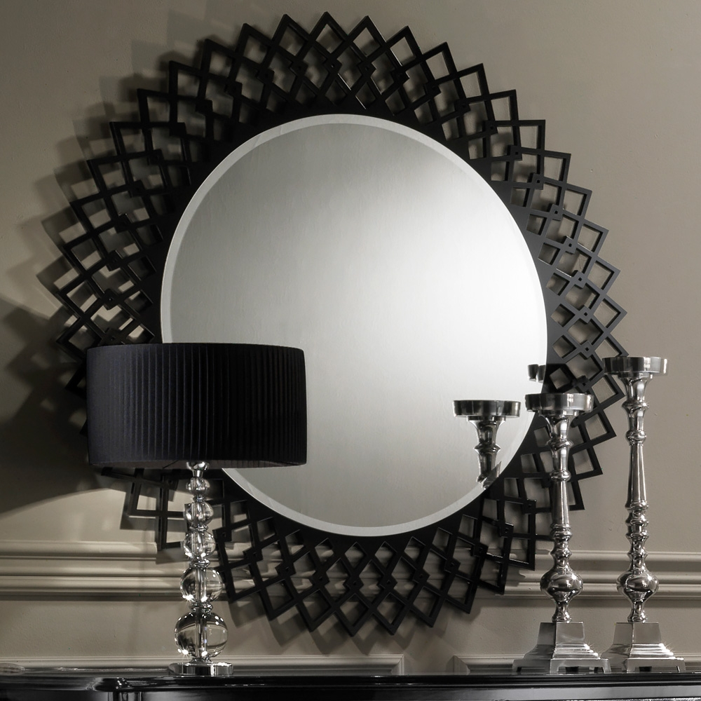 Mirror Contemporary In Black Round Mirror (Image 11 of 15)