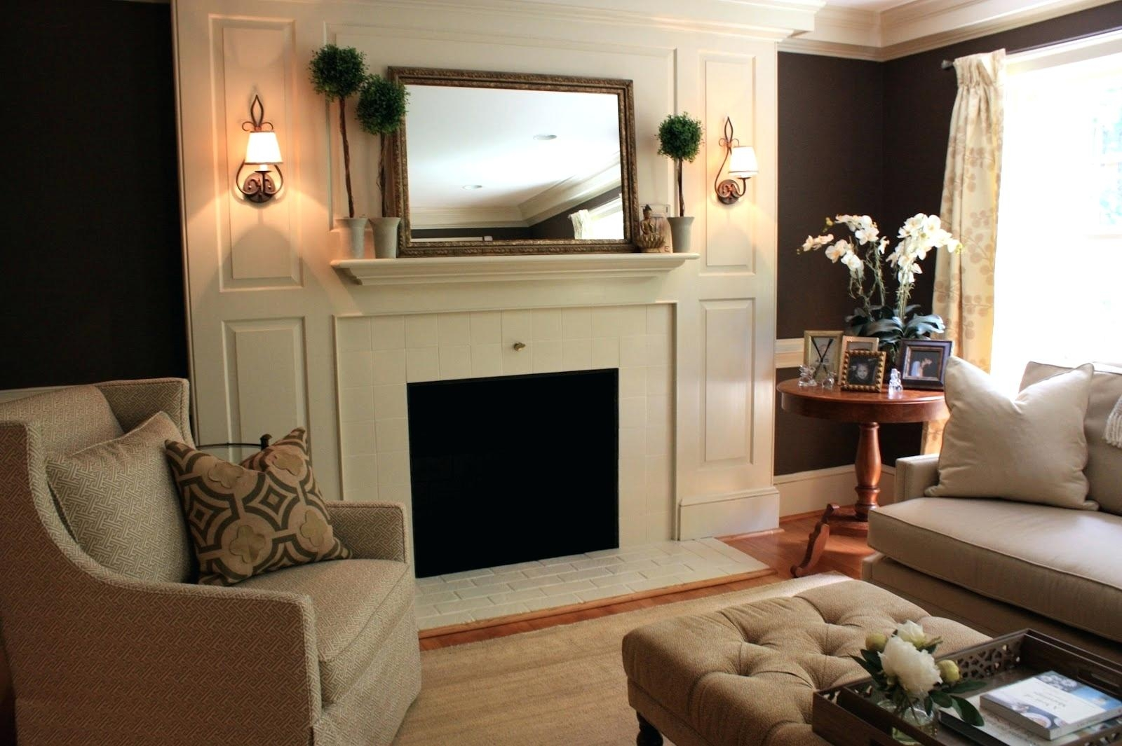 Mirror Fireplace Surround Pitchloveco With Large Mantel Mirror (Image 13 of 15)