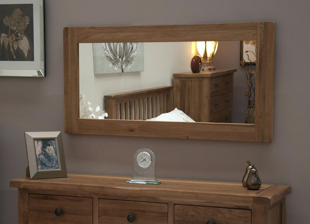 Mirror For Dining Rooms Rustic Solid Oak Large Full Length Wall Pertaining To Large Oak Mirror (View 12 of 15)