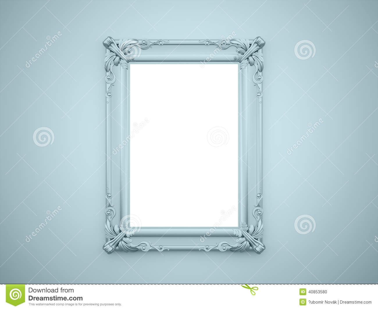 Mirror Frame Vintage Rendered Stock Illustration Image 40853580 In Mirror With Blue Frame (Image 7 of 15)
