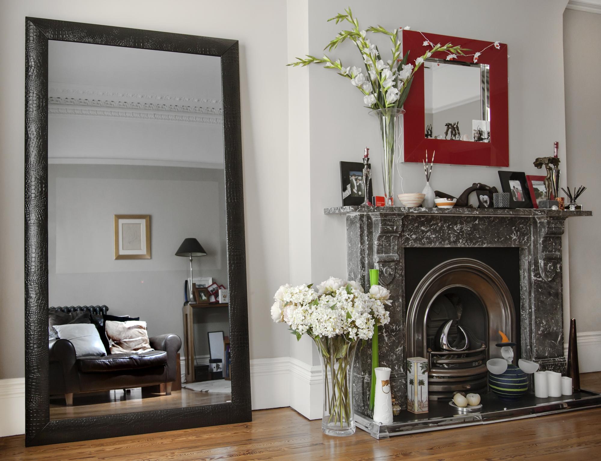 Mirror Full Length Sandberg Furniture Mirror On Mirror Full With Regard To Large Black Mirrors (Image 14 of 15)