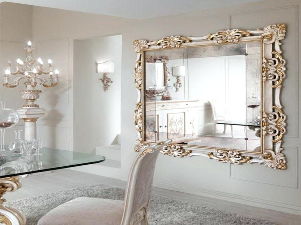 Mirror Glass Tiles Decorative Wood Distressed Mantle Long Narrow Regarding Long Decorative Mirror (Image 10 of 15)