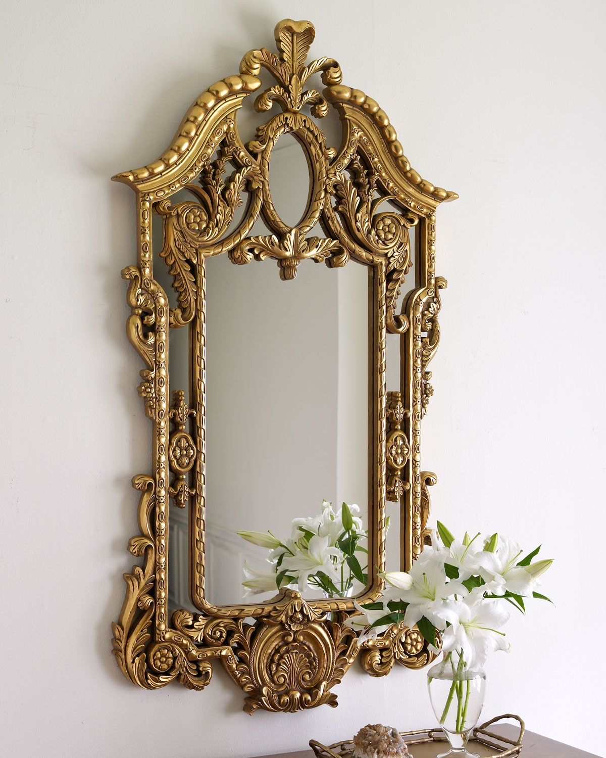 Mirror Gold Frame Antique Best Antique 2017 In Antique Gold Mirror Large (Image 12 of 15)