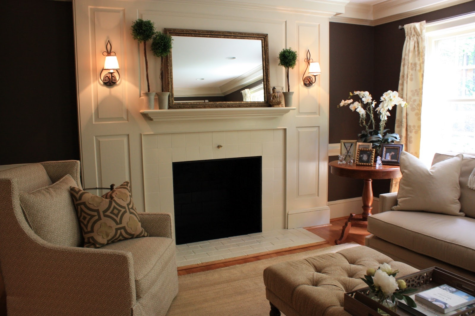 Mirror On Fireplace Mantel Fireplace Ideas Inside Large Mantel Mirrors (Image 12 of 15)