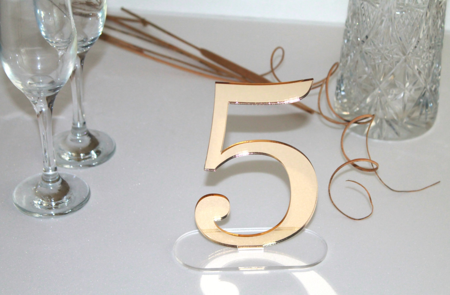 Mirror Table Numbers Etsy Inside Gold Table Mirror (Image 9 of 15)