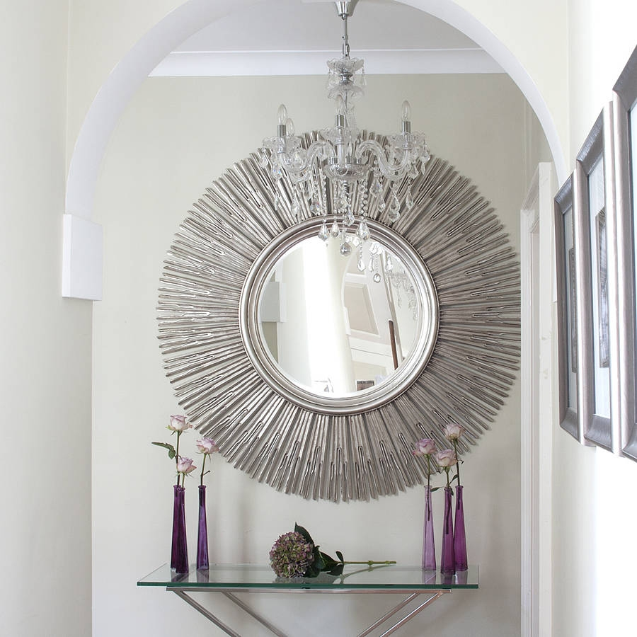 Mirror Wall Decor Saveemail Sun Mirror Wall Decor Design Gold With Regard To Large Sun Shaped Mirror (Image 10 of 15)