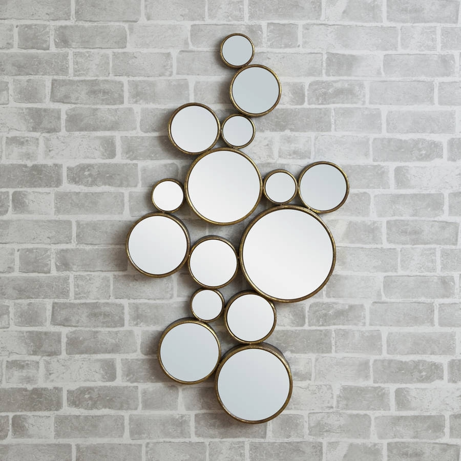 Mirrored Circles Wall Decor Harpsoundsco Throughout Funky Wall Mirror (Image 12 of 15)
