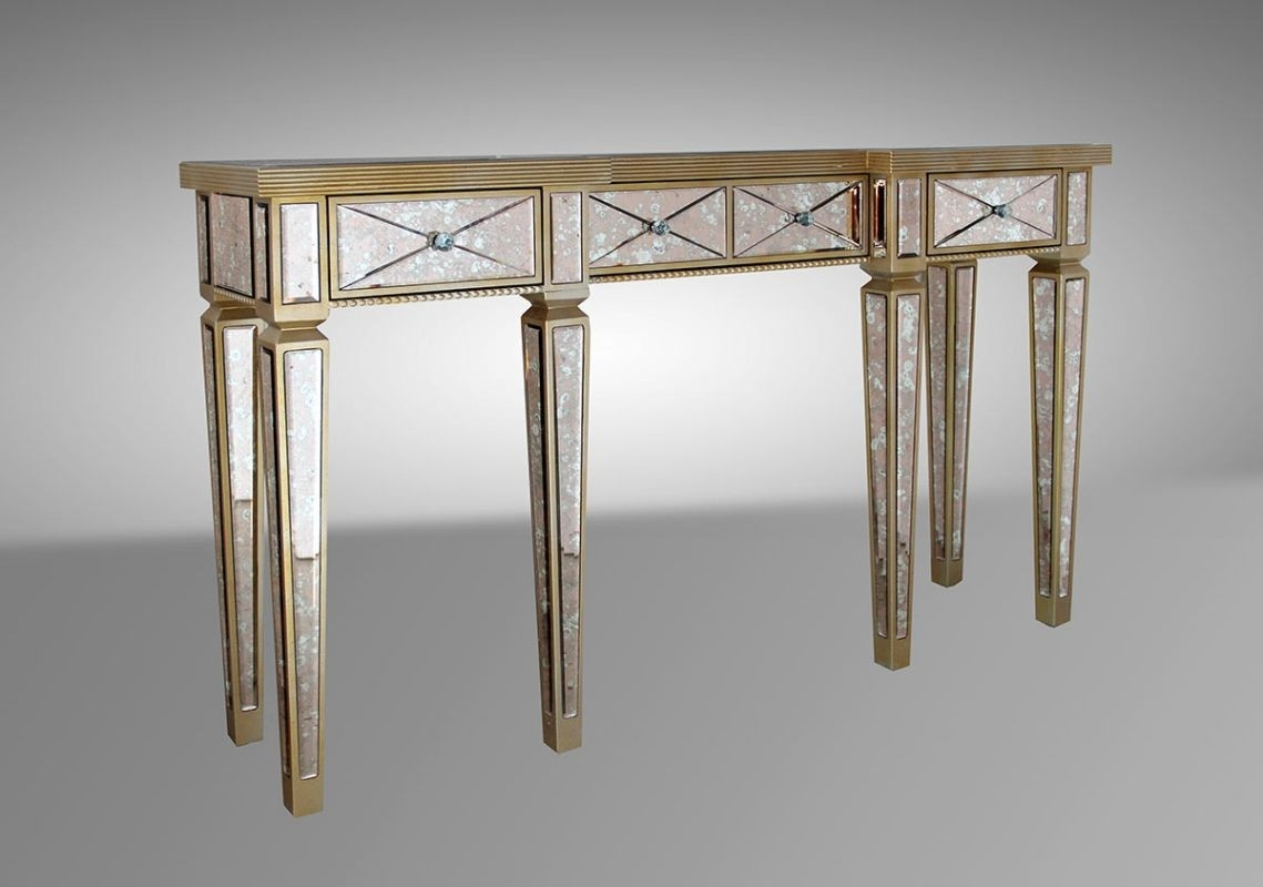 Mirrored Console Tables Our Location 2050 Sw 30th Ave Hallandale Inside Mirrored Occasional Tables (Image 11 of 15)