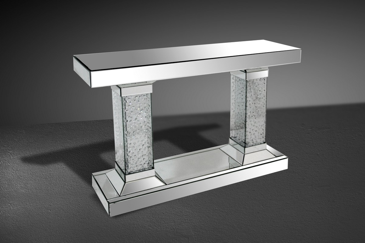 Mirrored Console Tables Our Location 2050 Sw 30th Ave Hallandale Regarding Mirrored Occasional Tables (Image 12 of 15)