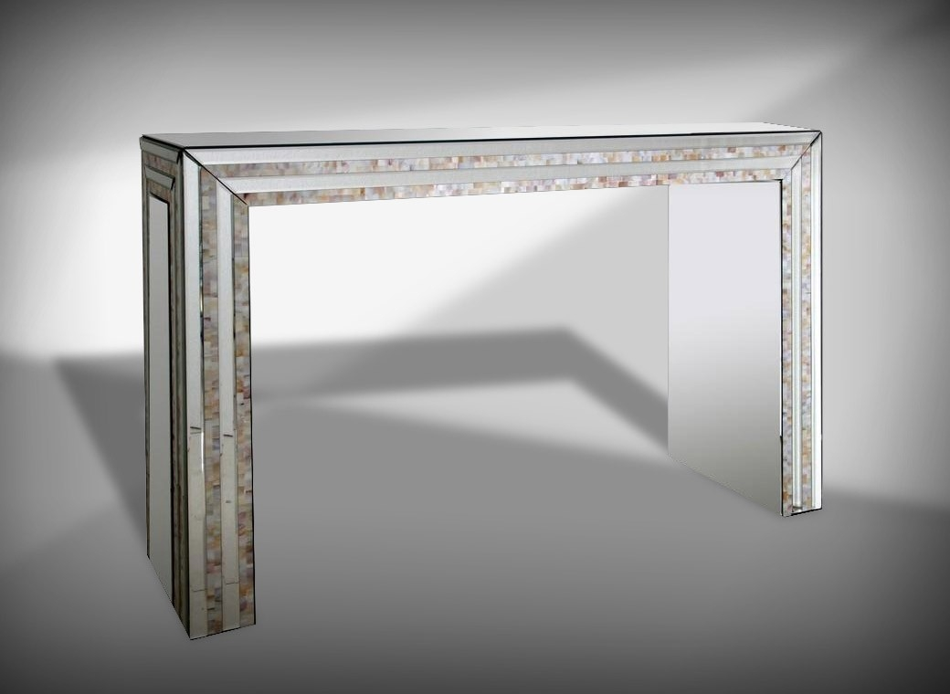 Mirrored Console Tables Our Location 2050 Sw 30th Ave Hallandale Within Mirrored Occasional Tables (Image 13 of 15)