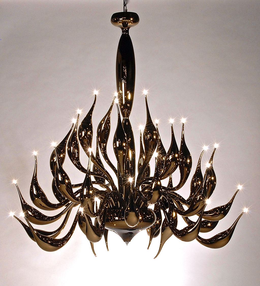 Mirrored Tobacco Chandelier Lu 17 For A Modern Interior Lighting Pertaining To Mirrored Chandelier (Image 10 of 15)