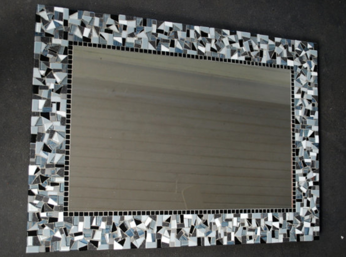 Featured Image of Black Mosaic Mirror