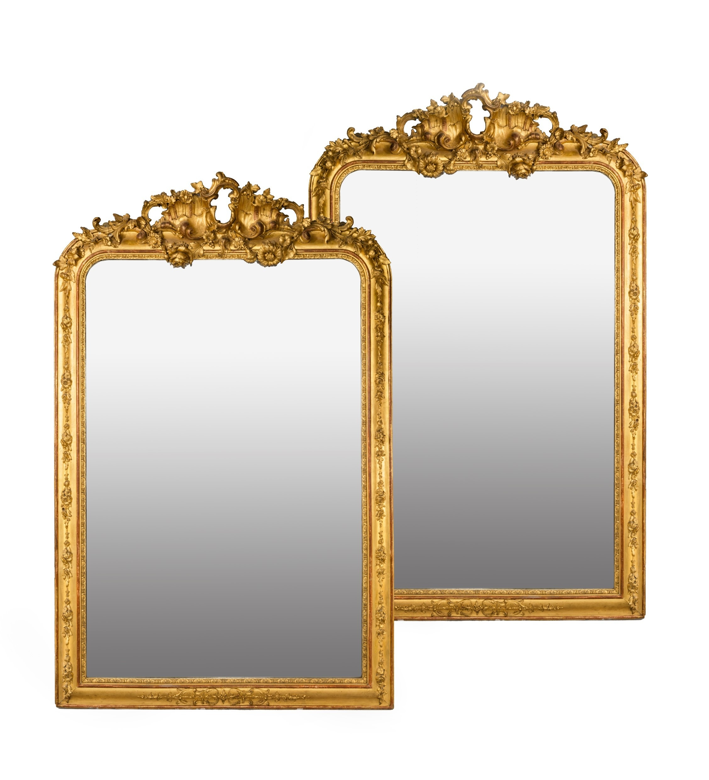Mirrors Gilt Wood Italy 18th Century The Uks Premier Antiques Throughout Gilded Mirrors For Sale (Image 14 of 15)