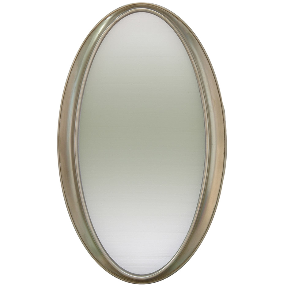 Mirrors Ireland Oval Bevelled Framed Silver Mirror With Oval Bevelled Mirror (View 7 of 15)
