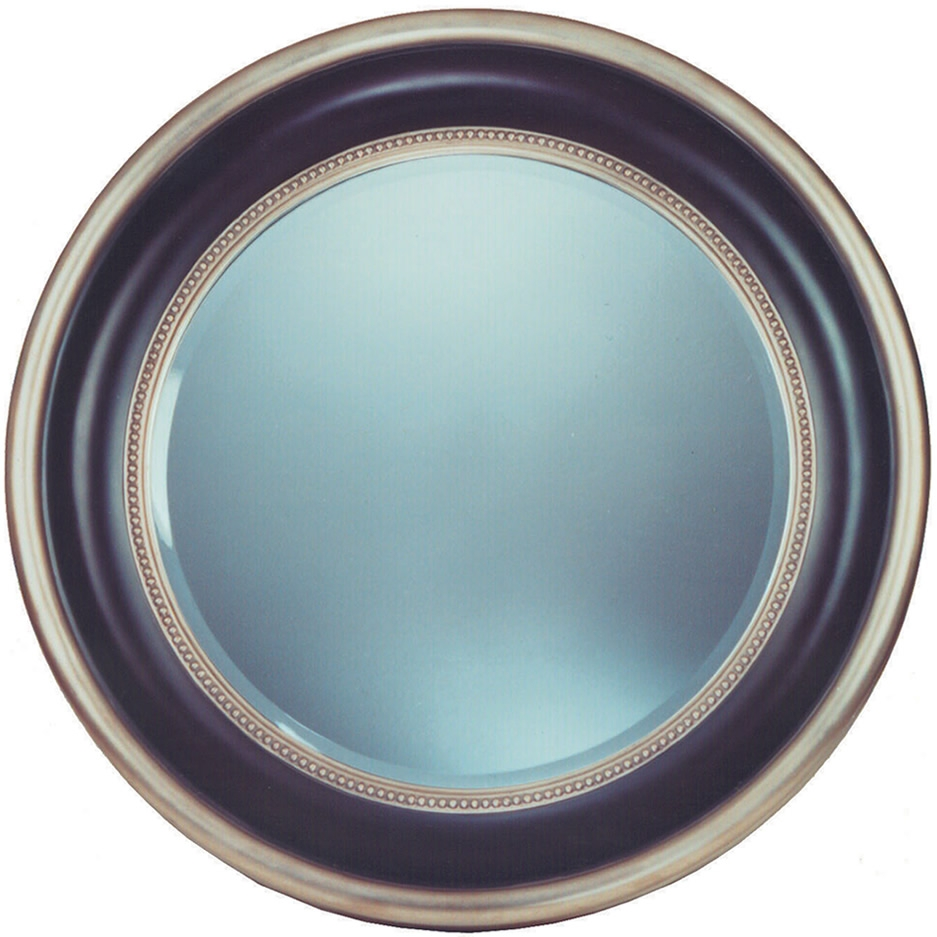 Mirrors Ireland Round Blacksilver Bevel Mirror With Black Bevelled Mirror (Image 11 of 15)