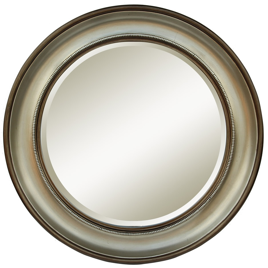 Mirrors Ireland Round Silver Bronze Mirror Pertaining To Round Silver Mirrors (Image 8 of 15)