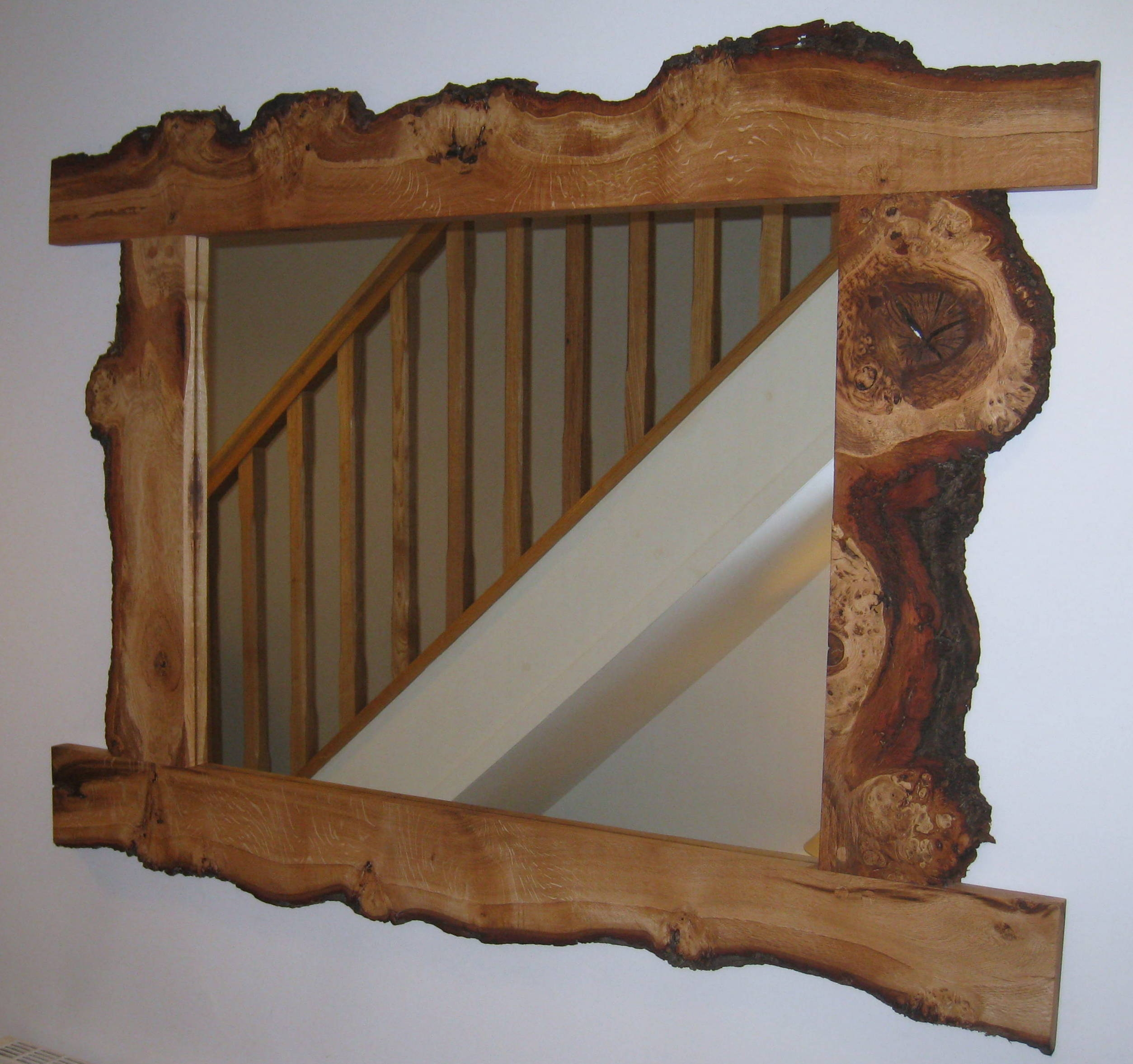 Mirrors Mirrored To Perfection With Rustic Oak Mirror (Image 4 of 15)