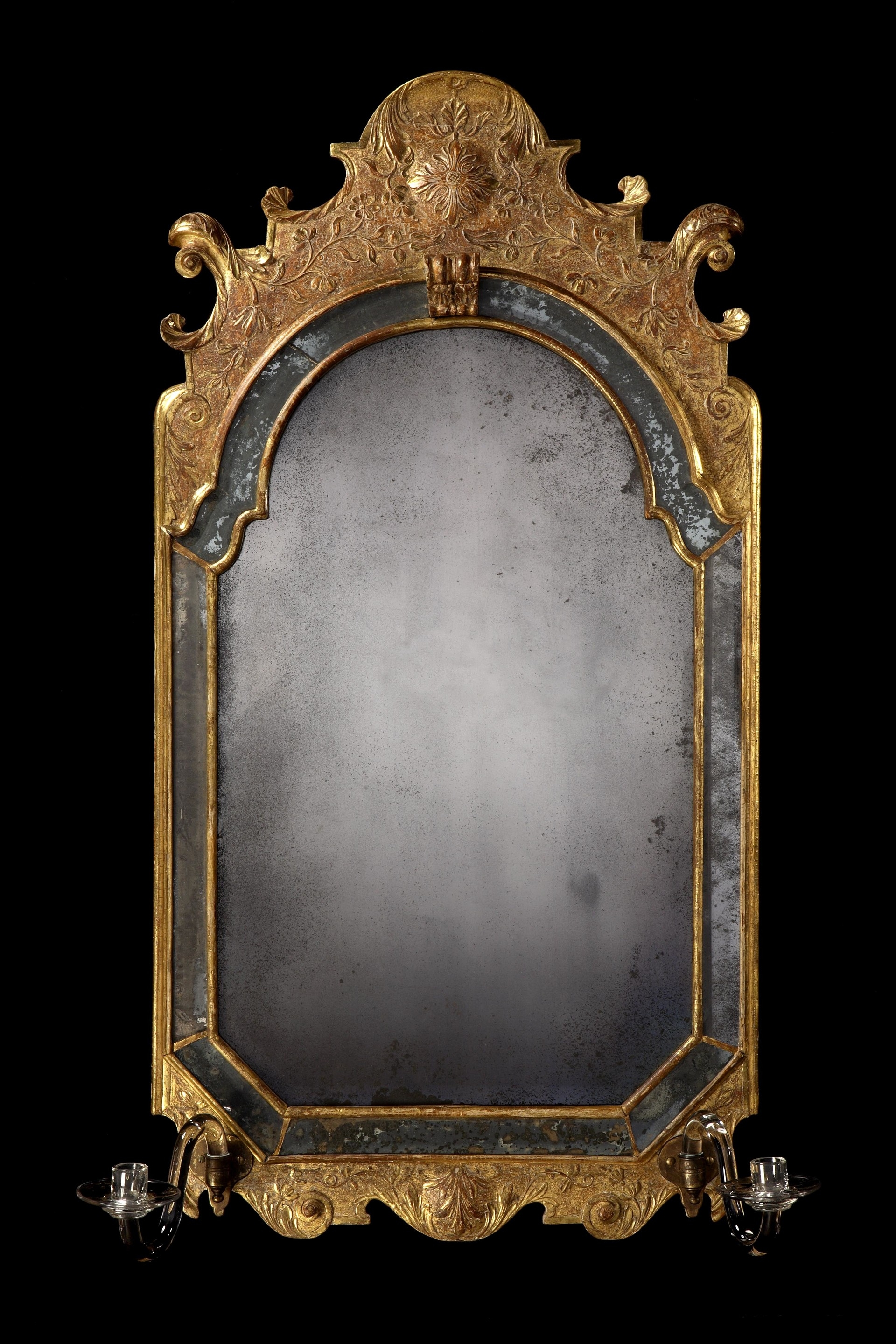 Mirrors Queen Anne The Uks Premier Antiques Portal Online For Antique Gilded Mirror (Image 14 of 15)