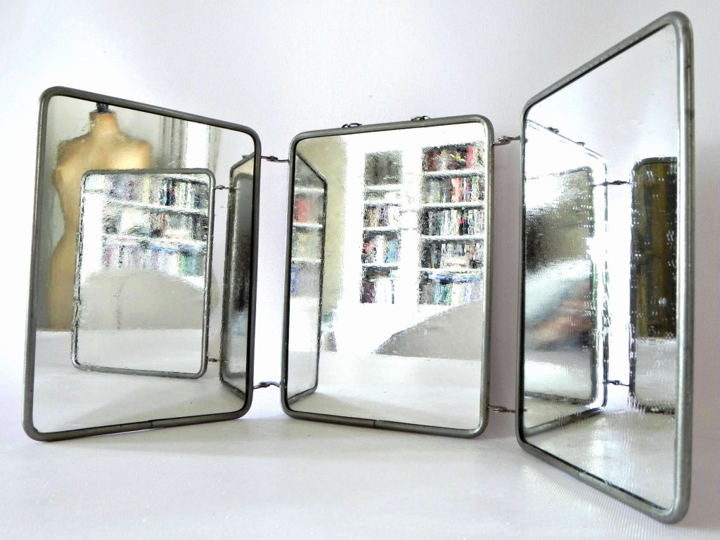 Mirrors Vintage French Three Way Tri Fold Vanity Mirror Omero With In Vintage French Mirrors (View 13 of 15)