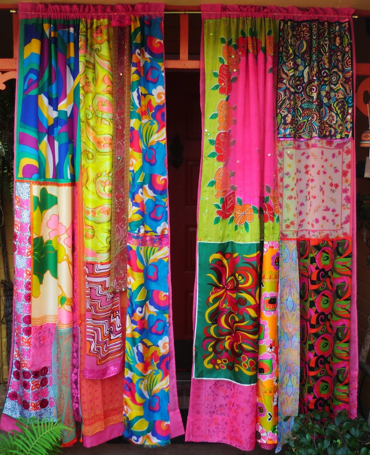 Mod Mod World Handmade Gypsy Curtains Hippie Global Vintage Intended For Hand Made Curtains (Image 12 of 15)