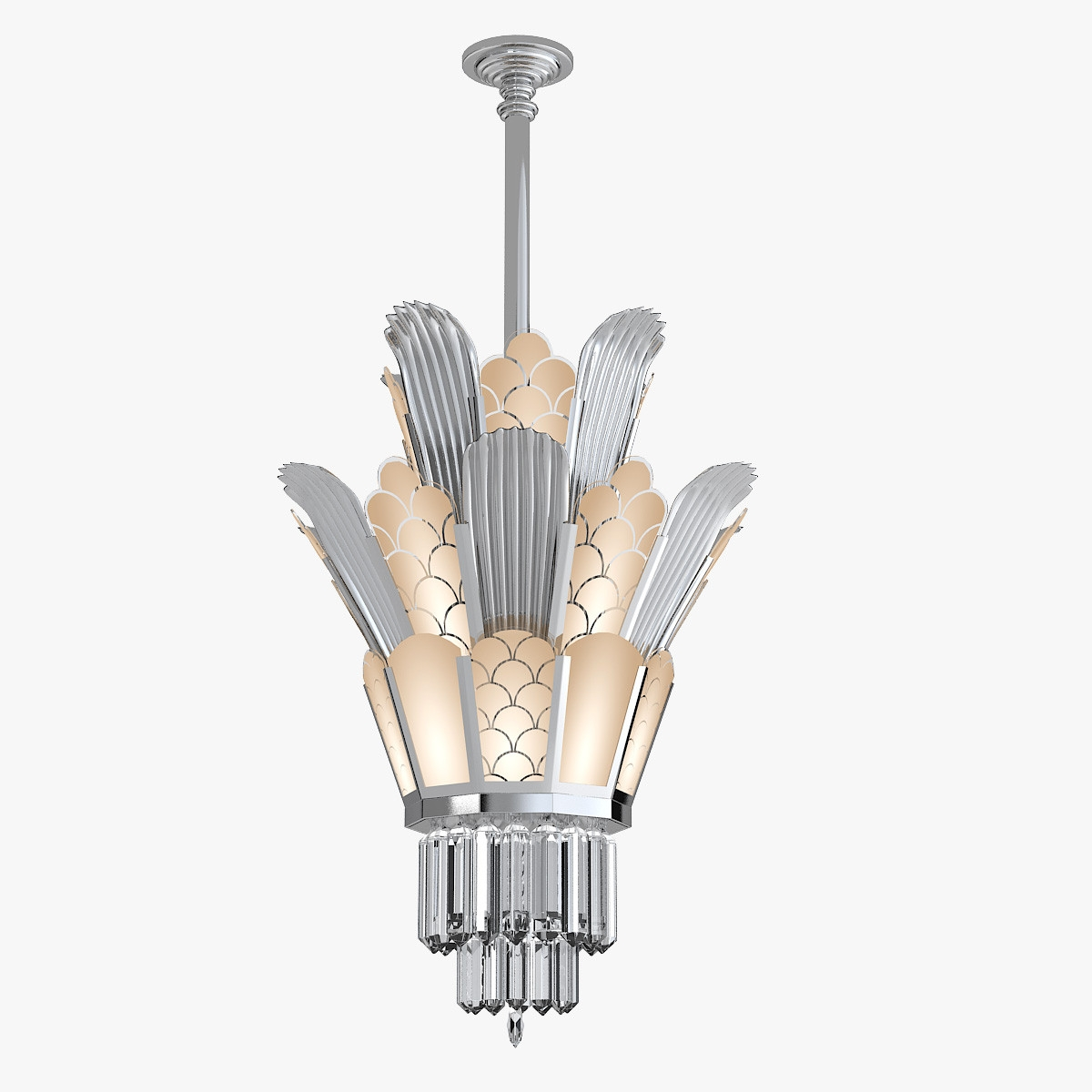 Model Andy Torton Art Deco Pertaining To Art Deco Chandelier (Image 11 of 15)