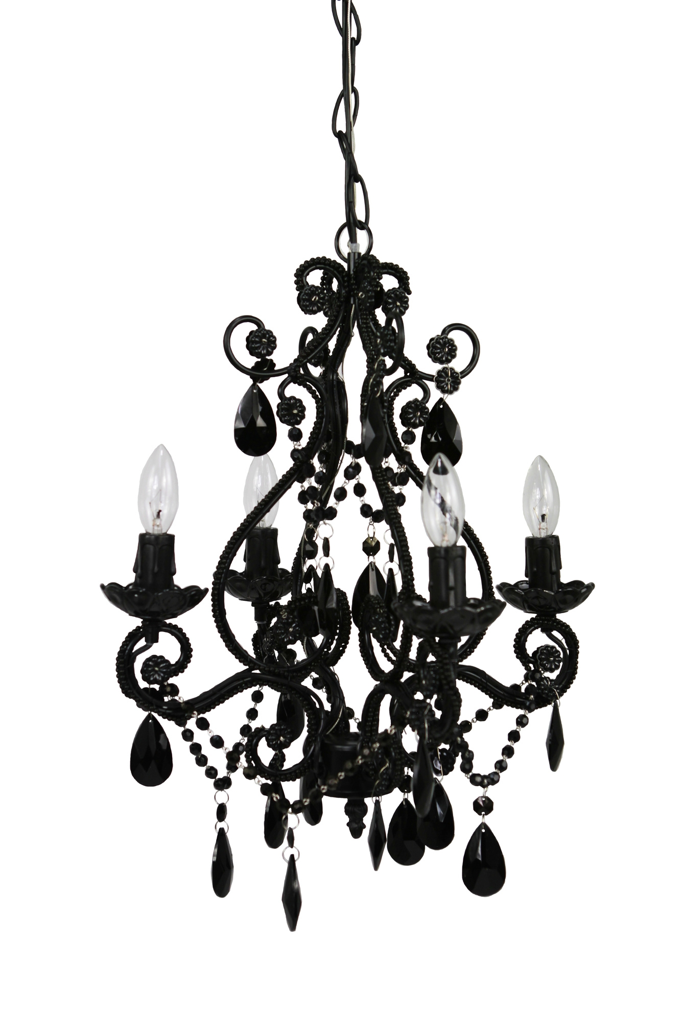 Modern And Cheap Chandeliers Decoholic Intended For Modern Black Chandelier (Image 11 of 15)