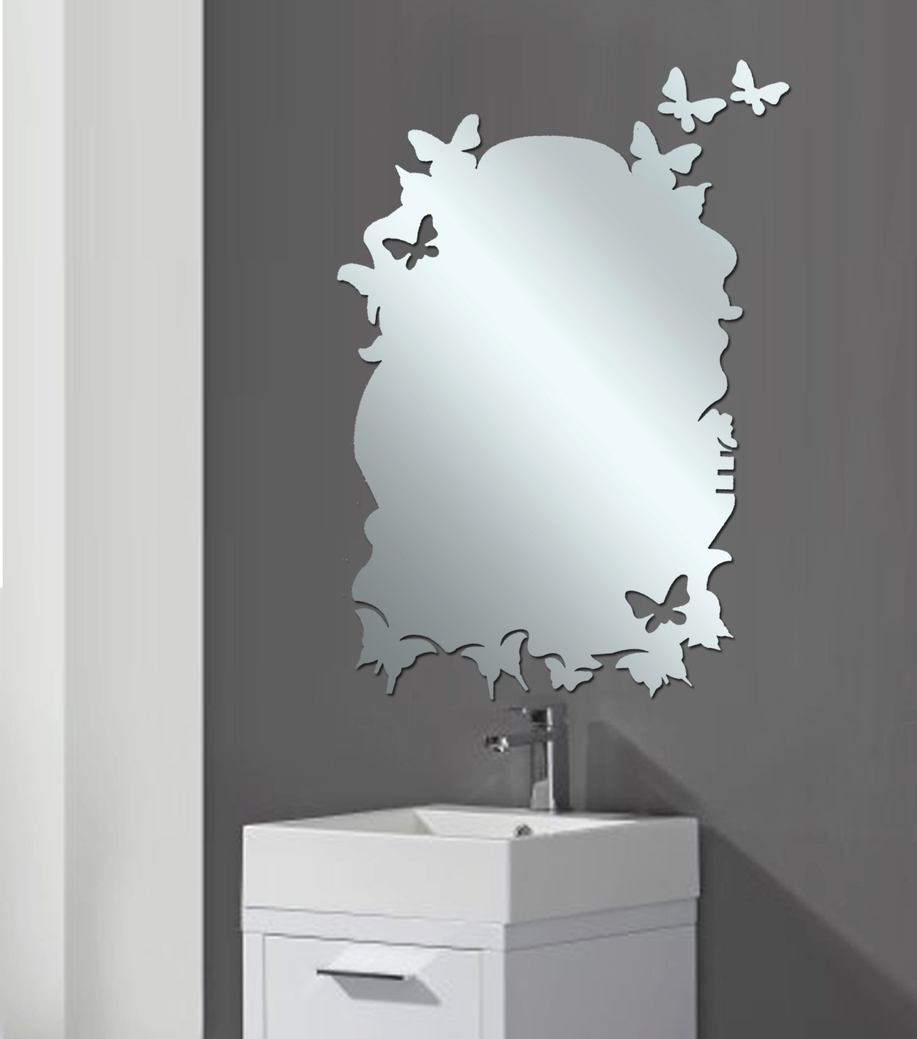 Modern Bathroom Mirrors Ideas The Homy Design Throughout Mirror Modern (Image 9 of 15)