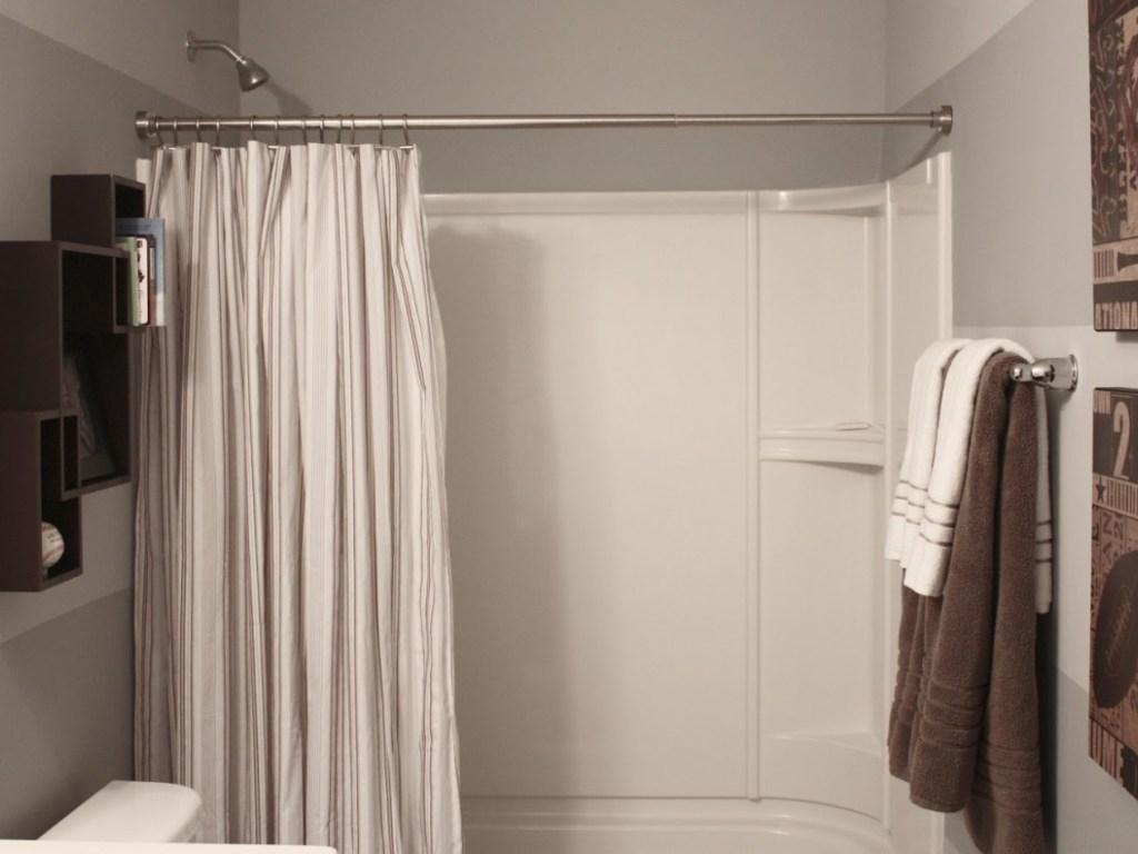 Modern Bathroom Wonderful Curtain Rods For Bay Windows Bathroom With Curtain Head (View 8 of 15)