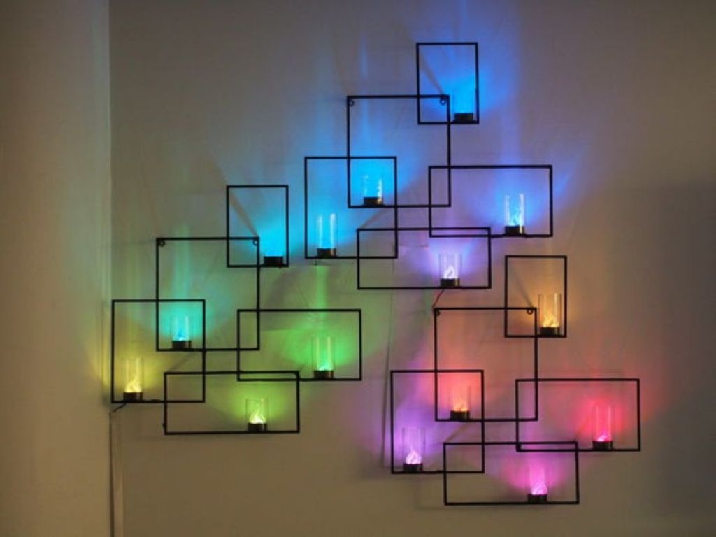 Modern Battery Operated Wall Sconces With Remote Control Great For Remote Controlled Chandelier (Image 5 of 15)