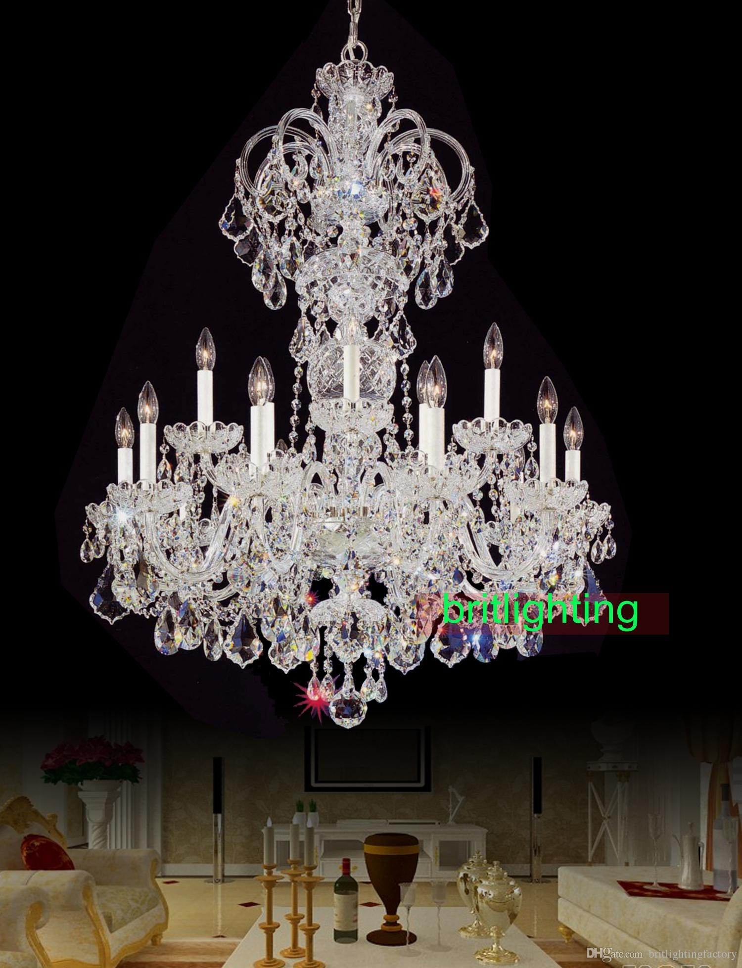 Modern Big Chandelier Lamps European Candle Chandeliers Versailles Regarding Restaurant Chandelier (Image 11 of 15)