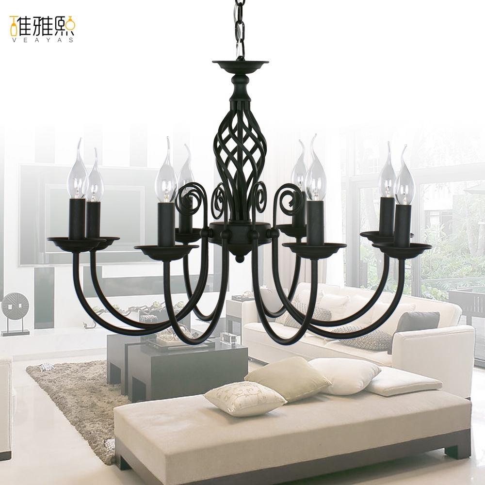 Modern Black Chandelier In Contemporary Black Chandelier (Image 13 of 15)