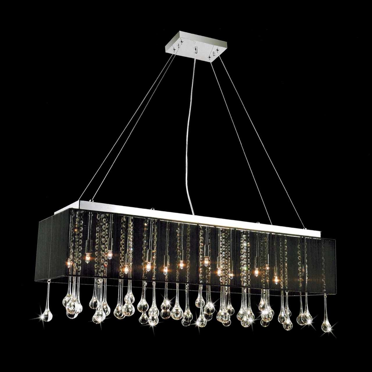 Modern Black Chandelier With Black Contemporary Chandelier (View 2 of 15)