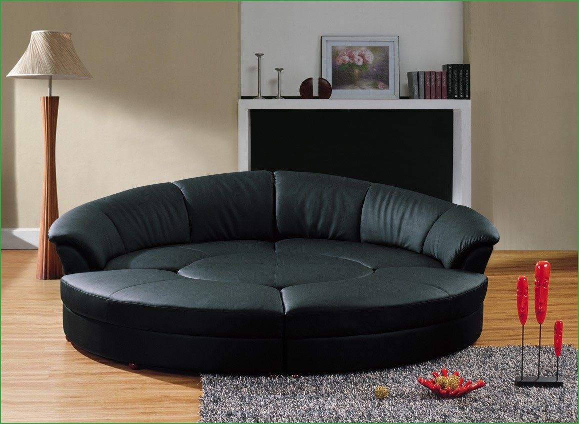 Modern Black Leather Sectional Contemporary Black Leather Throughout Contemporary Black Leather Sectional Sofa Left Side Chaise (Image 15 of 15)