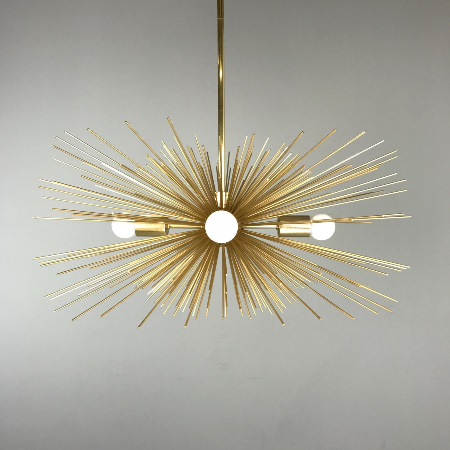Modern Chandelier Etsy Within Gold Modern Chandelier (Image 10 of 15)