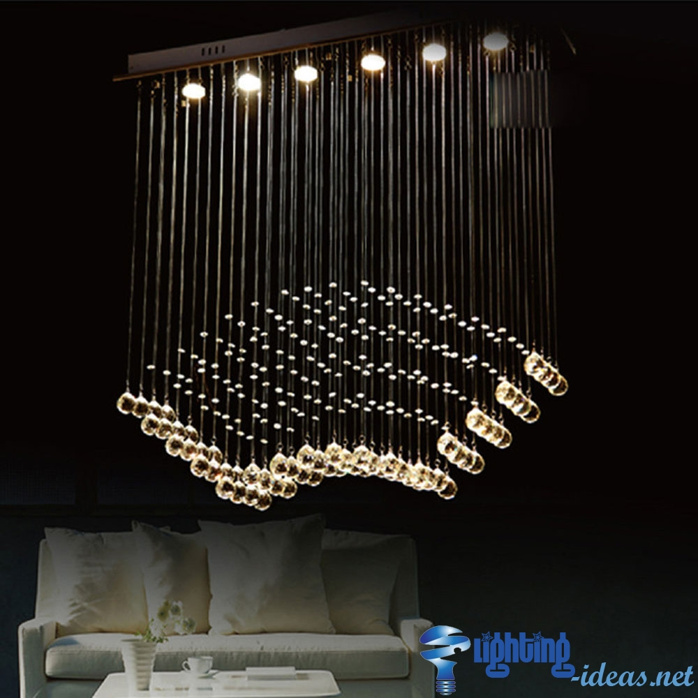 Modern Chandelier Lighting Choose Install And Hanging Throughout Modern Chandeliers (Image 11 of 15)