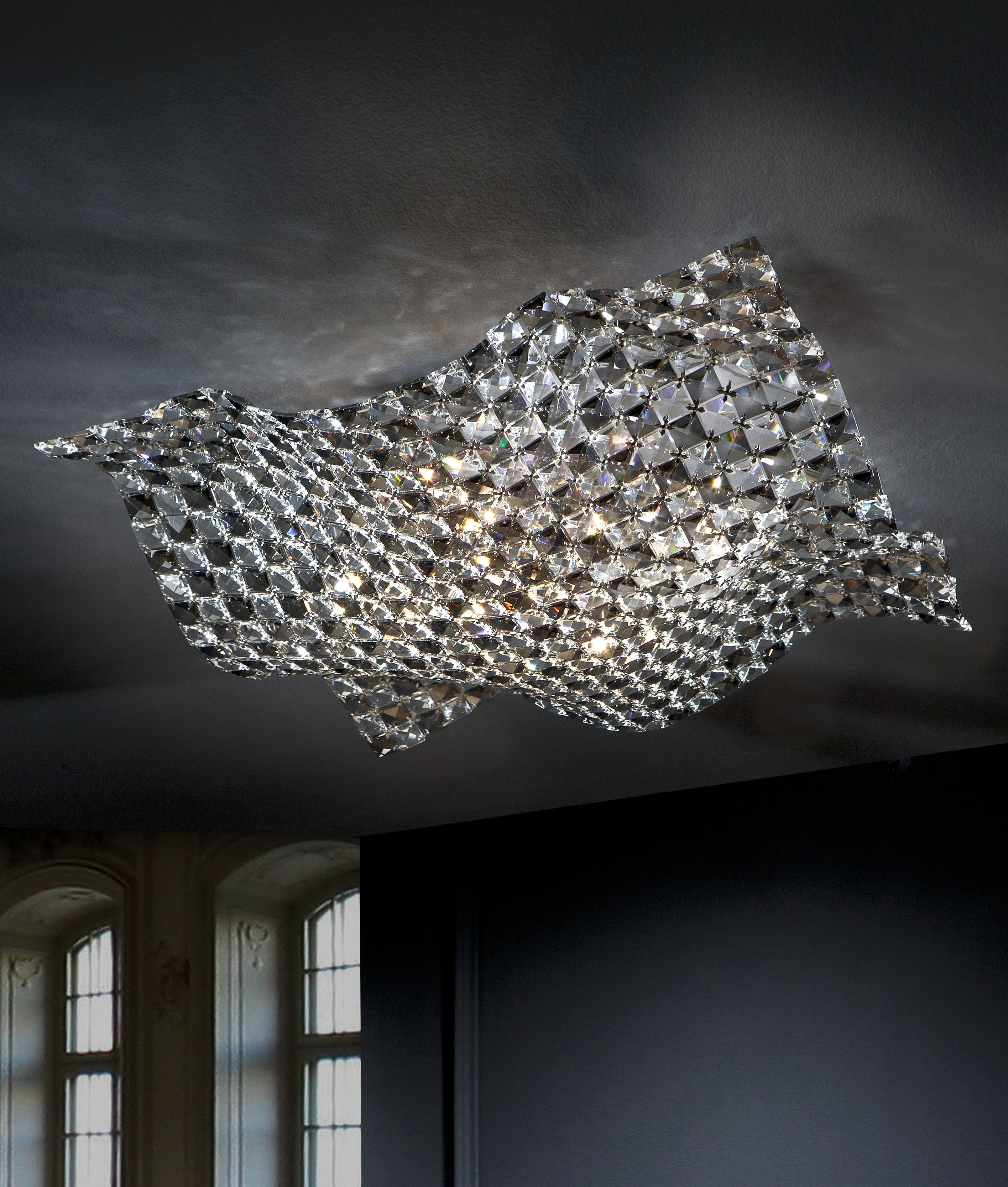 Modern Chandeliers Something Different Lighting Styles Pertaining To Flush Fitting Chandelier (Image 15 of 15)