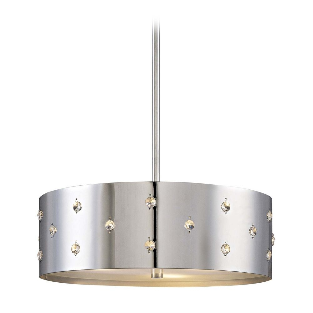 Modern Chrome Pendant Lights Destination Lighting Regarding Modern Chrome Chandeliers (Image 14 of 15)
