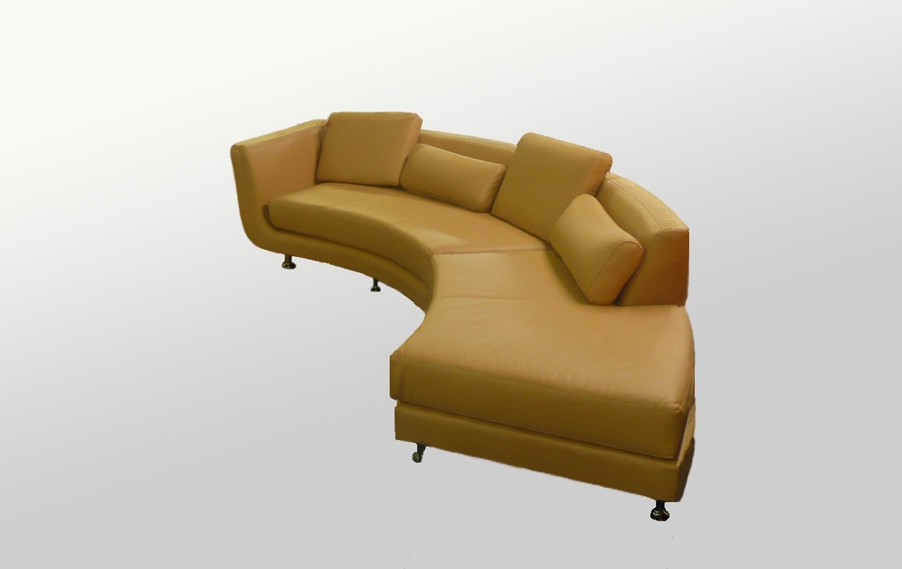 Modern Circular Sectional Sofa Regarding Camel Sectional Sofa (View 12 of 15)