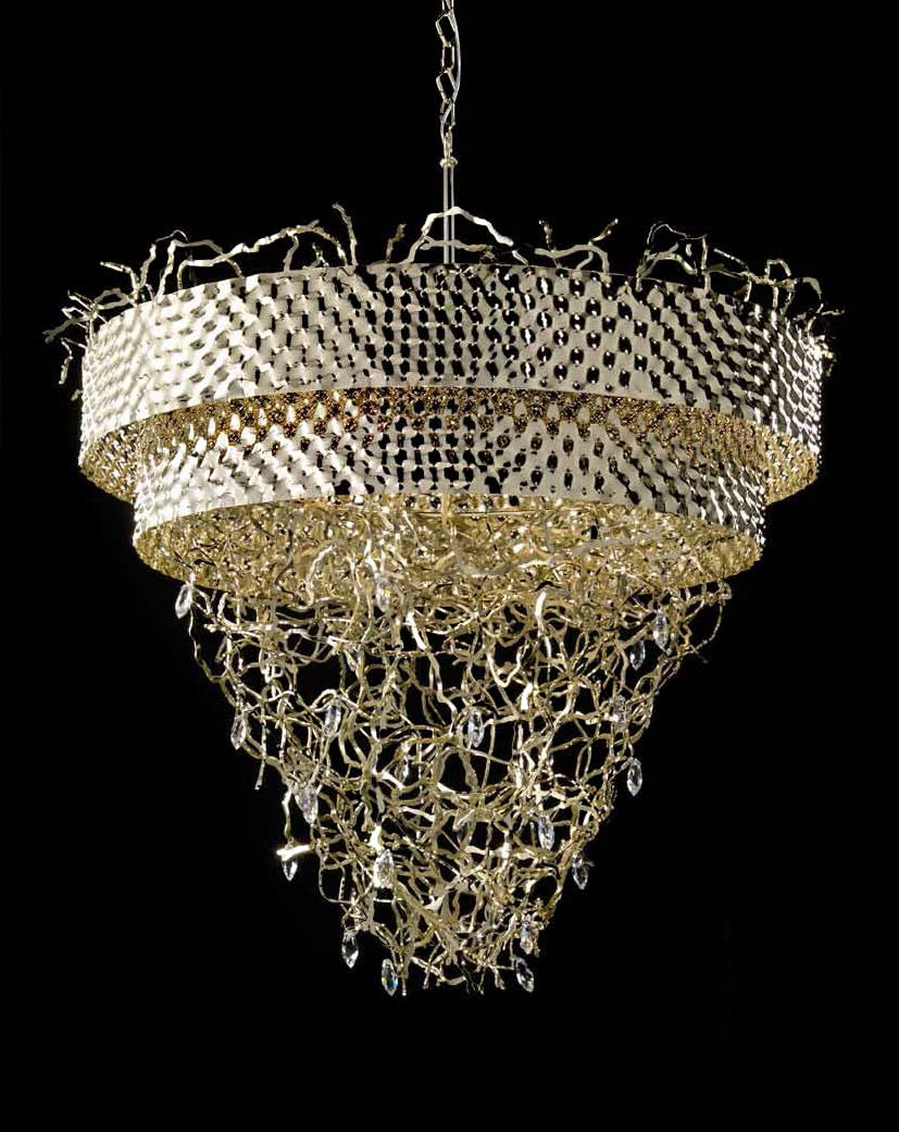 Modern Contemporary Gold Metal Chandelier Idll463k12 Murano Imports With Gold Modern Chandelier (Image 11 of 15)