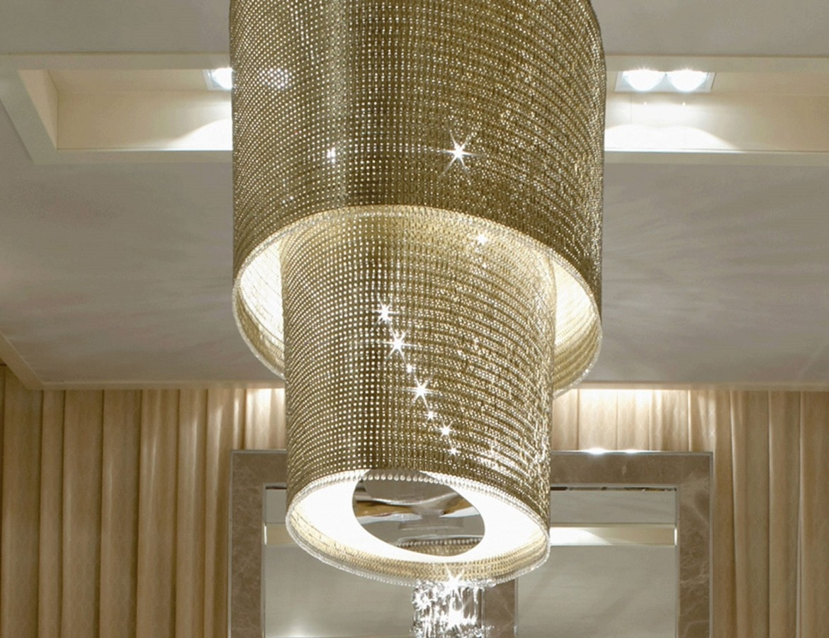 Modern Crystal Chandelier Home Decor Inside Large Modern Chandeliers (Image 10 of 15)