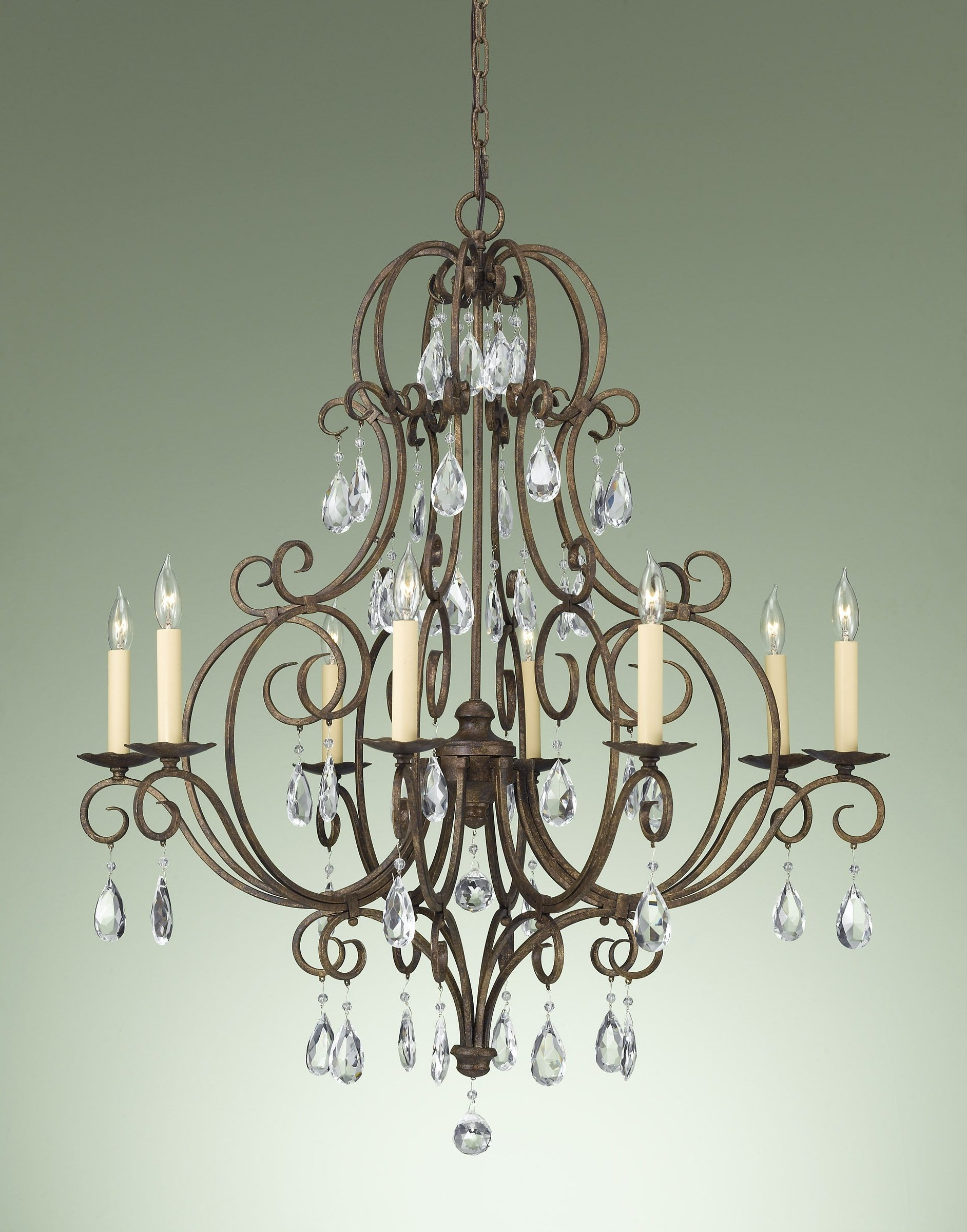 Modern Crystal Chandeliers Home Decor Intended For Bronze And Crystal Chandeliers (Image 12 of 15)