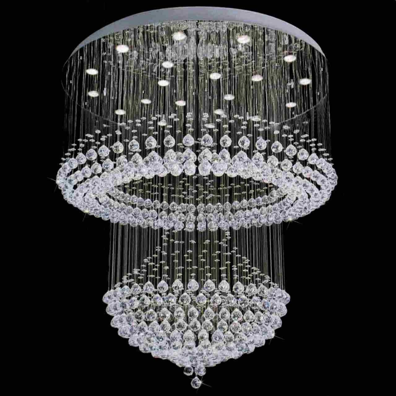 Modern Crystal Chandeliers Intended For Crystal Chandeliers (Image 12 of 15)