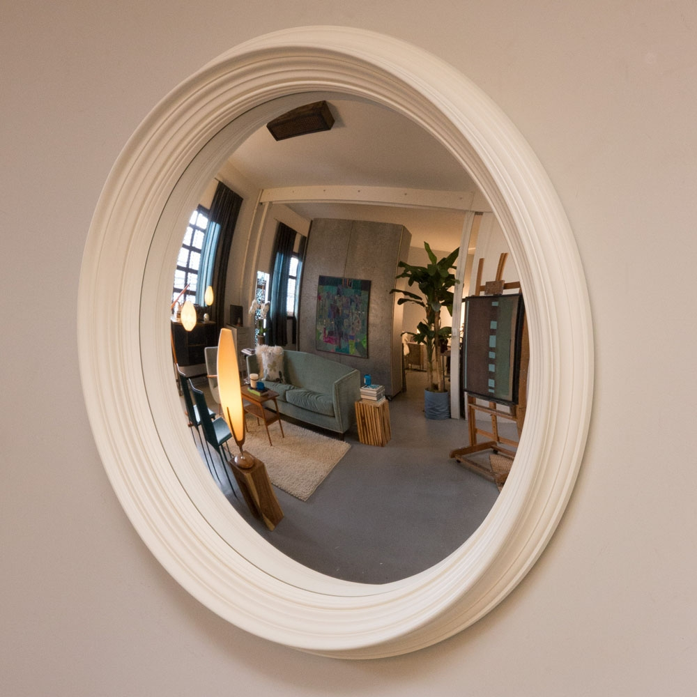 Modern Design Convex Wall Mirror Plush Ideas Riveted Porthole With Convex Porthole Mirror (Image 6 of 15)