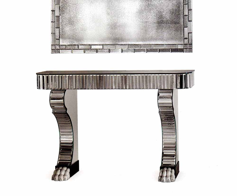 Modern Designer Console Tables Tl Furniture Taylor Llorente Inside Mirrored Occasional Tables (View 10 of 15)