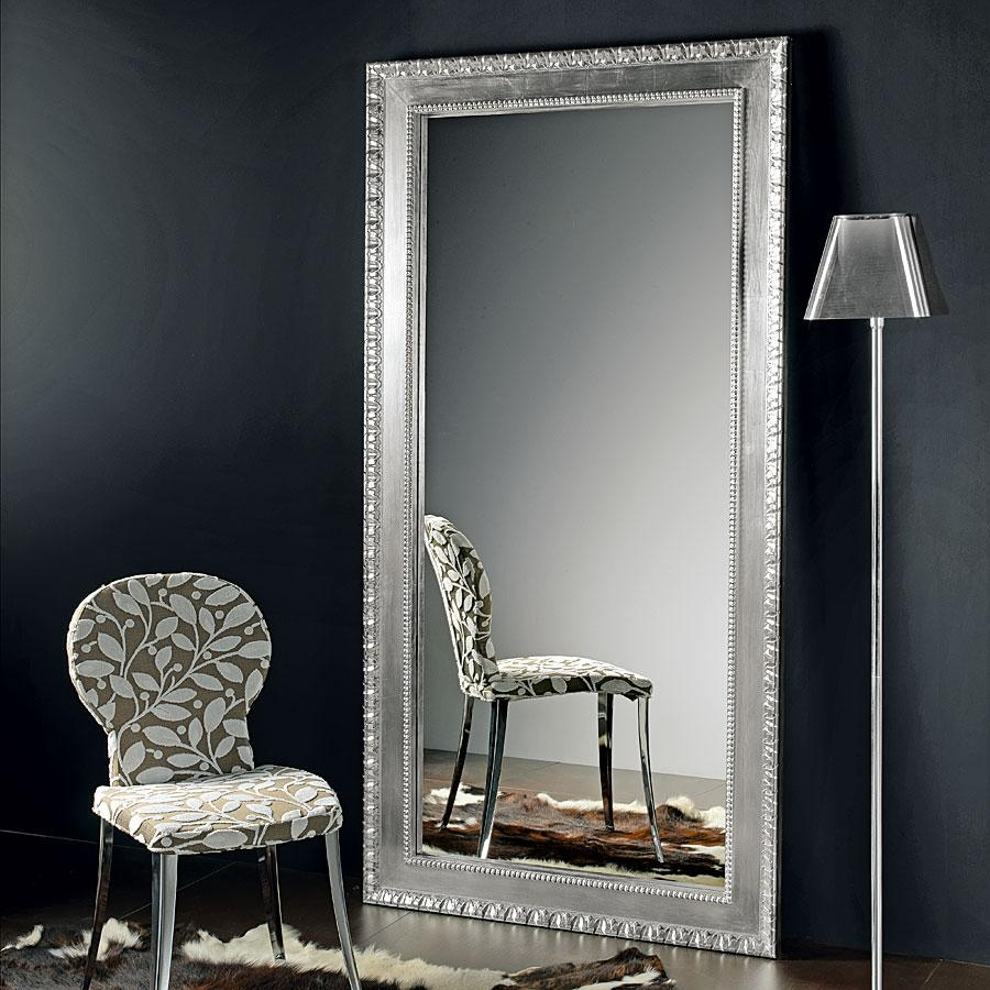 Modern Full Length Mirrors Images Regarding Silver Full Length Mirror (Image 8 of 15)