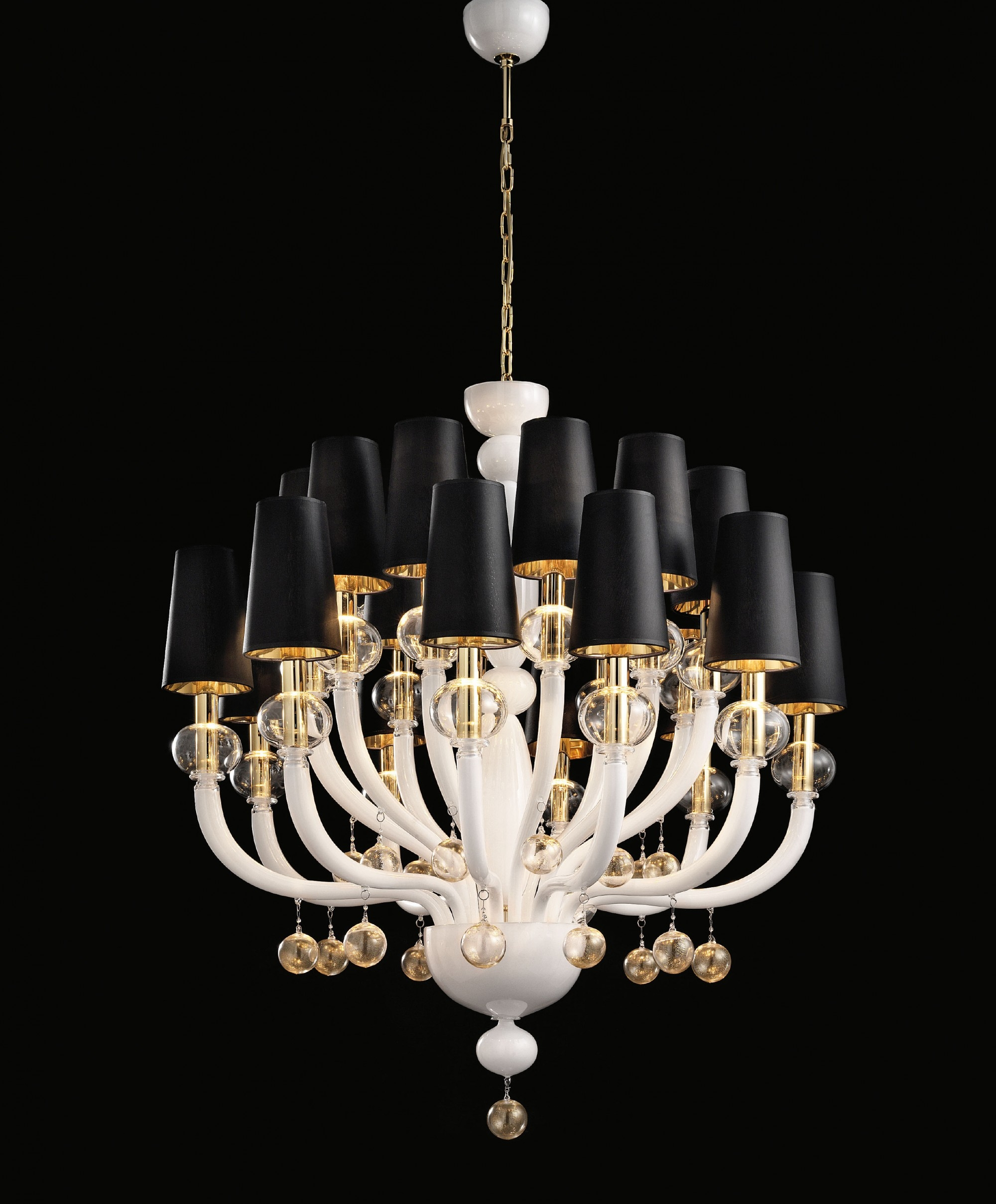 Modern Glass Chandelier Lighting Furniture Ideas Within Modern Glass Chandeliers (Image 9 of 15)