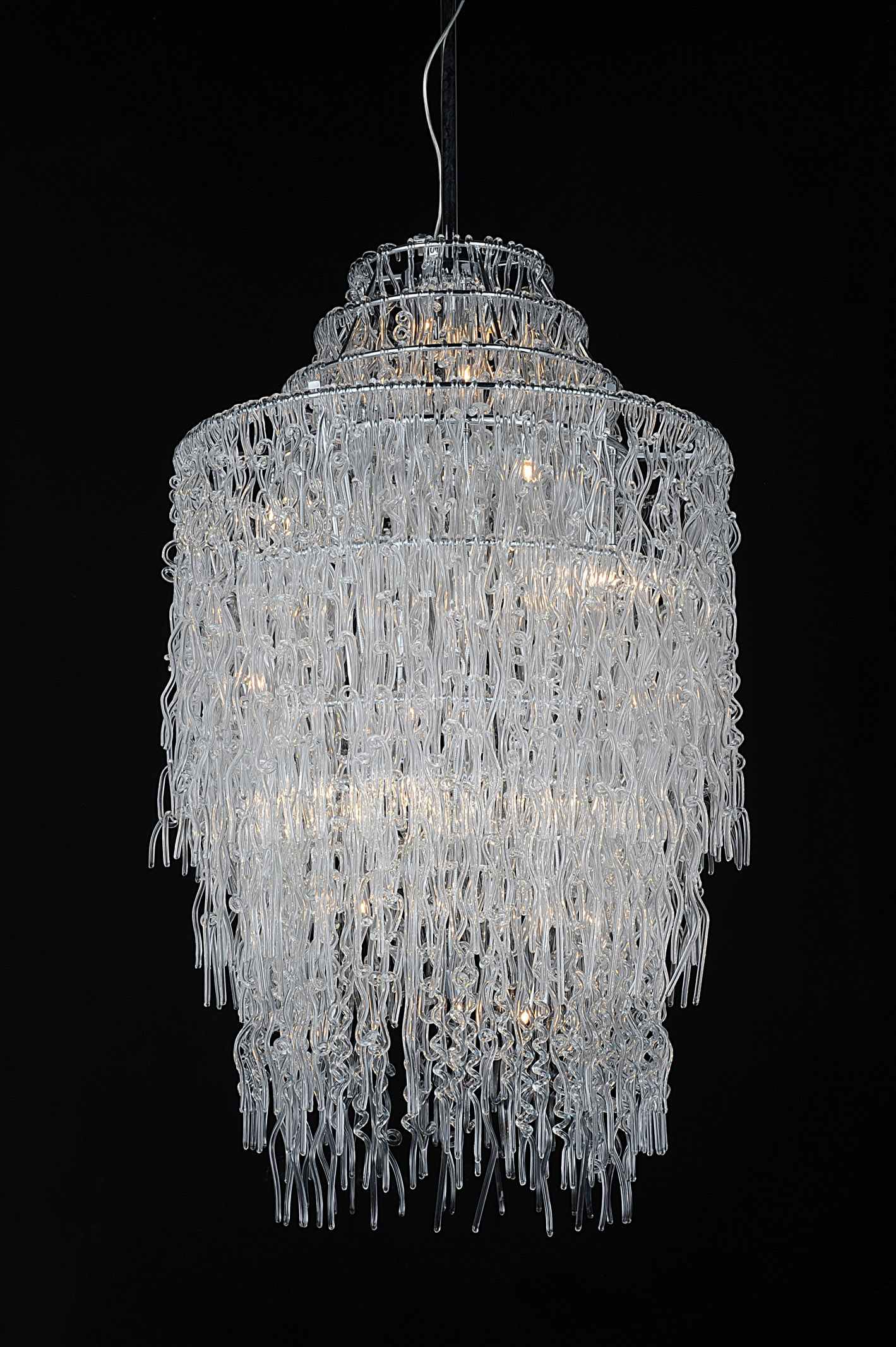 Modern Glass Chandelier Lighting In Glass Chandelier (Image 7 of 15)